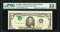 Inverted Third Printing Error Fr. 1979-G $5 1988 Federal Reserve Note. PMG About Uncirculated 53 EPQ