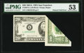 Printed Fold Error Fr. 2074-L $20 1981A Federal Reserve Note. PMG About Uncirculated 53