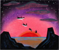 Animation Art:Concept Art, Mary Blair Peter Pan Neverland Concept/Color Key Painting (Walt Disney, 1953)....