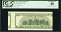 Misaligned Back Printing Error Fr. 2175-K $100 1996 Federal Reserve Note. PCGS Extremely Fine 40