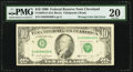 Wrong Color Ink on District Overprint Error Fr. 2029-D $10 1990 Federal Reserve Note. PMG Very Fine 20