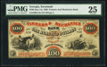 Savannah, GA- Farmers & Mechanics Bank $100 June 1, 1860 G14a PMG Very Fine 25