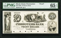 Woonsocket, RI- Producers Bank $20 18__ as G18 as Durand 2644 Proof PMG Gem Uncirculated 65 EPQ