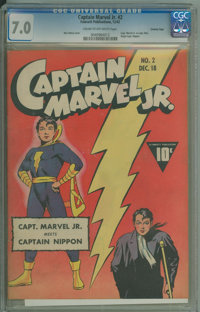 Captain Marvel Jr. #2 (Fawcett Publications, 1942) CGC FN/VF 7.0 Cream to off-white pages
