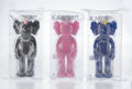 Collectible, KAWS (b. 1974). BFF Companion (set of three), 2018. Painted cast vinyl. 13-1/2 x 5 x 3 inches (34.3 x 12.7 x 7.6 cm) (ea... (Total: 3 Items)