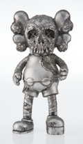 Collectible, KAWS X Pushead. Companion (Silver), 2005. Painted cast vinyl. 10-3/4 x 5-1/2 x 2-1/2 inches (27.3 x 14 x 6.4 cm). Stampe...