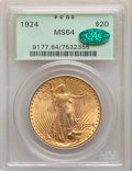 1924 $20 MS64 PCGS. CAC. PCGS Population: (101442/60457). NGC Census: (108042/41384). CDN: $1,823.87.Whsle. Bid for NGC/...