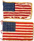 Military & Patriotic:WWII, Two U.S. Special Security Battalion, 30th Infantry Regiment, 48-Star National Flags. ...