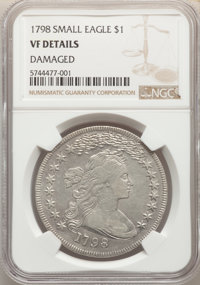 1798 $1 Small Eagle, 13 Stars -- Damaged -- NGC Details. VF. Mintage 327,536....(PCGS# 6867)