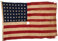 Military & Patriotic:WWII, SS (USS) Empire Javelin Ensign from the Normandy Invasion. ...