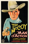 Movie Posters:Western, Man of Action (Columbia, 1932). Fine/Very Fine on Linen.