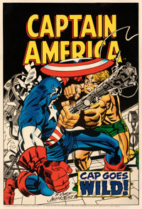 "Captain America (Marvelmania, 1969). Rolled, Fine+. Autographed Comic Poster (22.5"" X 33.25"")"