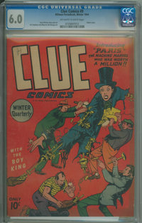 Clue Comics #1 (Hillman Publications, 1943) CGC FN 6.0 Off-white to white pages