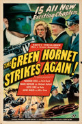Movie Posters:Serial, The Green Hornet Strikes Again (Universal, 1941). Folded, ...