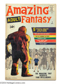 Silver Age (1956-1969):Adventure, Amazing Adult Fantasy #7 (Marvel, 1961) Condition: VG. Steve Ditko cover and art. Overstreet 2004 VG 4.0 value = $100. Fro...