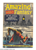 Silver Age (1956-1969):Mystery, Amazing Adult Fantasy #13 (Marvel, 1962) Condition: GD/VG. SteveDitko cover and art. Overstreet 2004 GD 2.0 value = $39; VG...