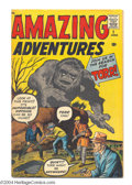 Silver Age (1956-1969):Horror, Amazing Adventures #1 (Marvel, 1961) Condition: VG. Origin ofDoctor Droom (first Marvel-Age superhero). Jack Kirby and Dick...