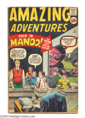 Silver Age (1956-1969):Horror, Amazing Adventures #2 (Marvel, 1961) Condition: VG-. Jack Kirby andDick Ayers cover art. Steve Ditko, Kirby, and Ayers inte...