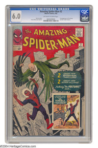 The Amazing Spider-Man #2 (Marvel, 1963) CGC FN 6.0 Off-white to white pages. This issue features the first appearance a...