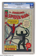 Silver Age (1956-1969):Superhero, The Amazing Spider-Man #3 (Marvel, 1963) CGC FN+ 6.5 Off-white pages. Origin and first appearance of Doctor Octopus. First f...
