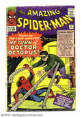 Silver Age (1956-1969):Superhero, The Amazing Spider-Man #11 (Marvel, 1964) Condition: FR. Second appearance of Doctor Octopus. Steve Ditko cover and art. Cov...