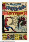 Silver Age (1956-1969):Superhero, The Amazing Spider-Man #13 (Marvel, 1964) Condition: VG+. First appearance of Mysterio. Steve Ditko cover and art. Overstree...