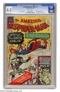 Silver Age (1956-1969):Superhero, Amazing Spider-Man, The #14 (Marvel, 1964) CGC FN+ 6.5 Off-white pages. Here's the first appearance of the Green Goblin (Nor...