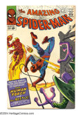 Silver Age (1956-1969):Superhero, The Amazing Spider-Man #21 (Marvel, 1965) Condition: FN+. Human Torch crossover. Second appearance of the Beetle. Steve Ditk...