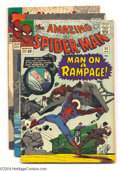 Silver Age (1956-1969):Superhero, The Amazing Spider-Man #32-34 Group (Marvel, 1966). This group consists of three comics: #32 (FN+); 33 (VG) (has heavy chipp... (Total: 3 Comic Books Item)
