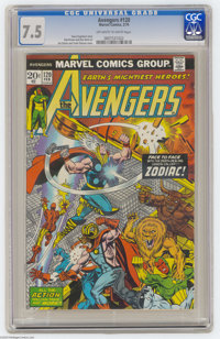 The Avengers #120 (Marvel, 1974) CGC VF- 7.5 Off-white to white pages. Jim Starlin cover. Bob Brown art. Overstreet 2004...