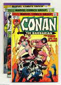Bronze Age (1970-1979):Miscellaneous, Conan the Barbarian Group (Marvel, 1974-76) Condition: Average VG.This group includes #44, 45 (Neal Adams cover), 46, 48, 4...(Total: 19 Comic Books Item)