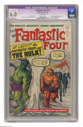 Silver Age (1956-1969):Superhero, Fantastic Four #12 (Marvel, 1963) CGC Apparent FN 6.0 Slight (P) White pages. This issue featured the first meeting of the F...