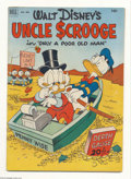 Golden Age (1938-1955):Cartoon Character, Four Color #386 Uncle Scrooge (Dell, 1952) Condition: FN-. Decentcopy. Overstreet considers this issue to be Uncle Scroog...