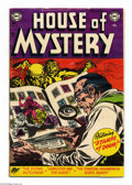 Golden Age (1938-1955):Horror, House of Mystery #23 (DC, 1954) Condition: VG. Ruben Moreira cover.Jim Mooney, Ramona Fradon, Jack Burnley, and Moreira art...
