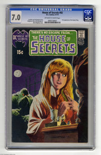 House of Secrets #92 (DC, 1971) CGC FN/VF 7.0 Off-white to white pages. First appearance of the Swamp Thing. Outstanding...