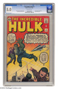 Silver Age (1956-1969):Superhero, The Incredible Hulk #3 (Marvel, 1962) CGC VG/FN 5.0 Off-white pages. The Hulk's third appearance, and his origin is retold. ...