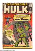 Silver Age (1956-1969):Superhero, The Incredible Hulk #6 (Marvel, 1963) Condition: FR/GD. First appearance of Teen Brigade. Steve Ditko cover and art. Overstr...