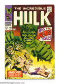 Silver Age (1956-1969):Superhero, The Incredible Hulk #102 (Marvel, 1968) Condition: VG/FN. Origin retold. Story continued from Tales to Astonish #101. Wa...