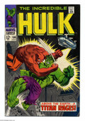 Silver Age (1956-1969):Superhero, The Incredible Hulk #106 (Marvel, 1968) Condition: VF+. Herb Trimpe and George Tuska art. Overstreet 2004 VF 8.0 value = $53...