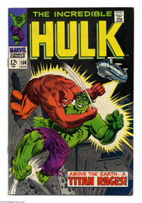 The Incredible Hulk #106 (Marvel, 1968) Condition: VF+. Herb Trimpe and George Tuska art. Overstreet 2004 VF 8.0 value =...