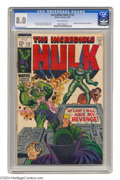Silver Age (1956-1969):Superhero, The Incredible Hulk #114 (Marvel, 1969) CGC VF 8.0 Off-white pages. Herb Trimpe cover and art. Overstreet 2004 VF 8.0 value ...