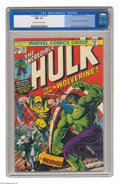 Bronze Age (1970-1979):Superhero, The Incredible Hulk #181 (Marvel, 1974) CGC NM- 9.2 Cream to off-white pages. You're looking at the most valuable comic book...