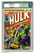 Bronze Age (1970-1979):Superhero, The Incredible Hulk #181 (Marvel, 1974) CGC Qualified NM- 9.2 Off-white to white pages. First (full) appearance of Wolverine...