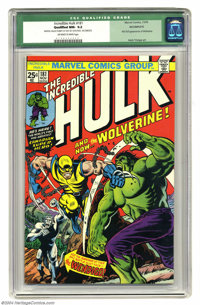 The Incredible Hulk #181 (Marvel, 1974) CGC Qualified NM- 9.2 Off-white to white pages. First (full) appearance of Wolve...