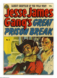 Jesse James #5 (Avon, 1951) Condition: VG+. Joe Kubert and Wally Wood art. Painted cover. Has a tear in the middle of th...