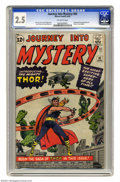 Silver Age (1956-1969):Superhero, Journey Into Mystery #83 (Marvel, 1962) CGC GD+ 2.5 Off-white pages. Origin and first appearance of Thor. Jack Kirby art. Ov...