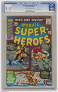 Silver Age (1956-1969):Superhero, Marvel Super Heroes #1 (Marvel, 1966) CGC NM 9.4 Off-white to white pages. First Marvel one-shot. Reprints stories from Da...