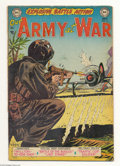 Golden Age (1938-1955):War, Our Army at War #16 (DC, 1953) Condition: VG. Irv Novick cover, interior art by Novick, Ross Andru, and Gene Colan. Overstre...