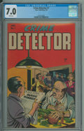 Crime Detector #1 (Timor, 1954) CGC FN/VF 7.0 White pages