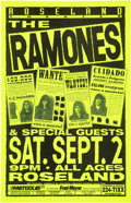 Music Memorabilia:Posters, The Ramones Roseland Theater Concert Poster (1995)....
